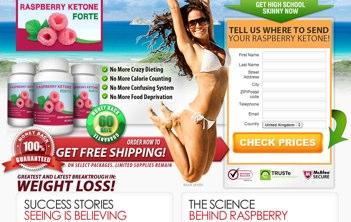 Raspberry Ketone Forte UK website