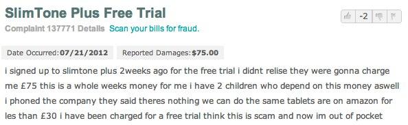 Slimtone Plus scam