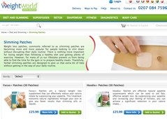 Fucus slimming patches sold via weight world