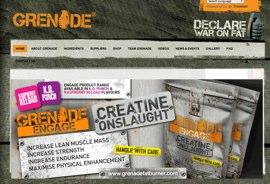 Website for Grenade fat burners