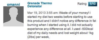 Testimonial for Grenade Thermo Detonator