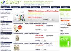 Silver Slimming tablet website