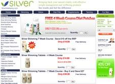Silver Slimming tablet website