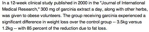 Garcinia Clinical